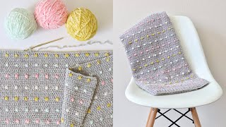 Crochet Candy Dots Baby Blanket