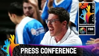 Serbia v Greece - Post Game Press Conference - 2014 FIBA Basketball World Cup