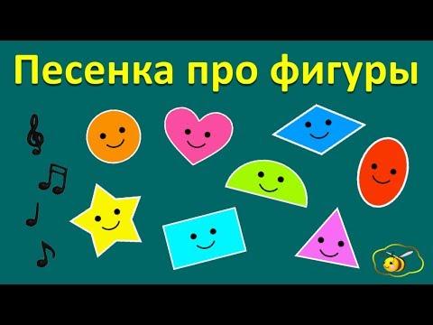 Учим фигуры. Песенка про геометрические фигуры. Музыкальный клип мультик для детей