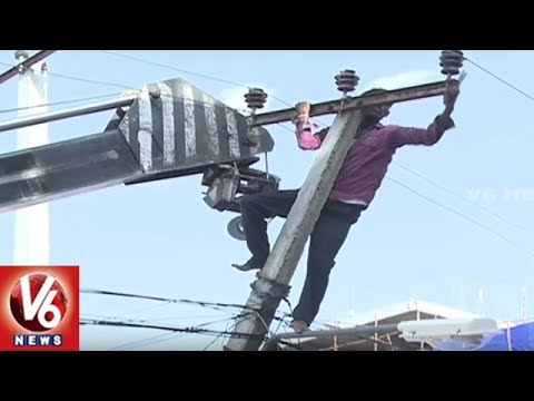 Electricity Department To Set Up Insulating Conductor Wires In Hyderabad City | V6 News