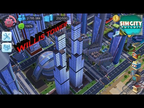 SimCity Buildit - NEW MONUMENTS. Willis Tower.