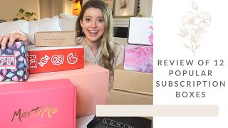 Unboxing and Comparing A TON of Popular Subscription Boxes! | Be Kind by Ellen | Box of Style & More