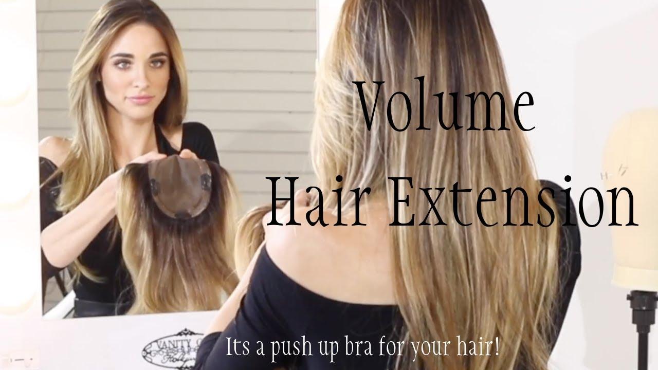 1bd56b60cc Damage Free Luxury Volume Human Hair Topper Hairpiece Extension ...