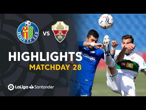 Getafe Elche Goals And Highlights
