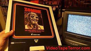 Zombie CED Wizard Video Vestron   SelectaVision RCA Videodisc