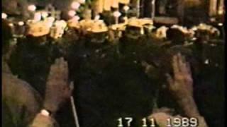 První vysílání záběrů ze 17. listopadu 1989