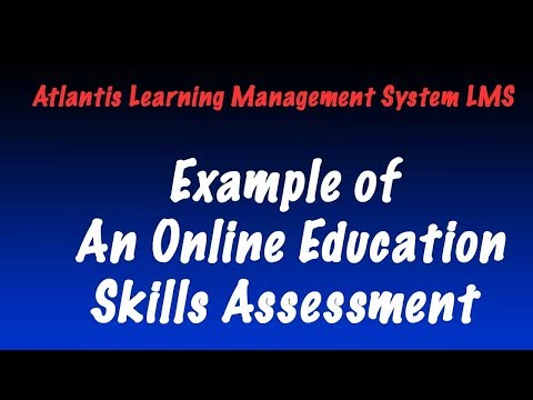 Model of How to Do Online Learning Skills Assessments