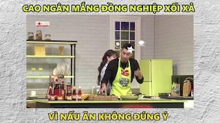 """Cao Ngân lên giọng """"mắng"""" Đăng Khánh vì không hiểu ý khi nấu ăn   Khi Chàng Vào Bếp : Tập 14"""