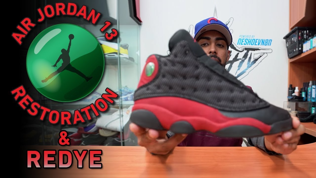 5b1a672028cff Nike Air Jordan Bred 13s Restoration (Cleaning