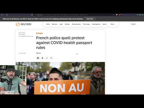 RIOTS Erupt Over France's New Vaccine Passport Policy, Tear Gas Deployed, Vax Passes ARE Coming Here