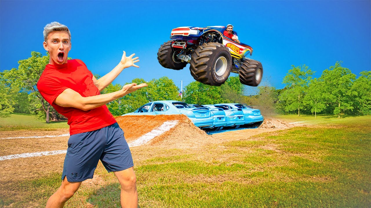 WORKING as a HOT WHEELS MONSTER TRUCK DRIVER for 24 HOURS!!