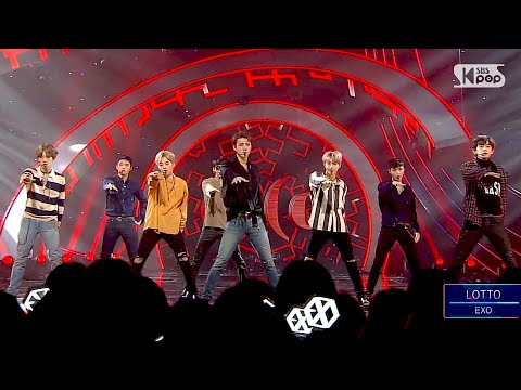 """POWERFUL"" EXO - LOTTO (louder) @ Popular Inkigayo 20160828"