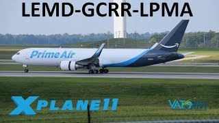 X-Plane 11   New Lanzarote Scenery + GIVEAWAY!!   B763F & B737   VATSIM   Madeira Approach!!