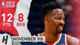 Dwight Howard Full Highlights Wizards vs Magic 2018.11.09 - 12 Pts, 8 Rebounds!