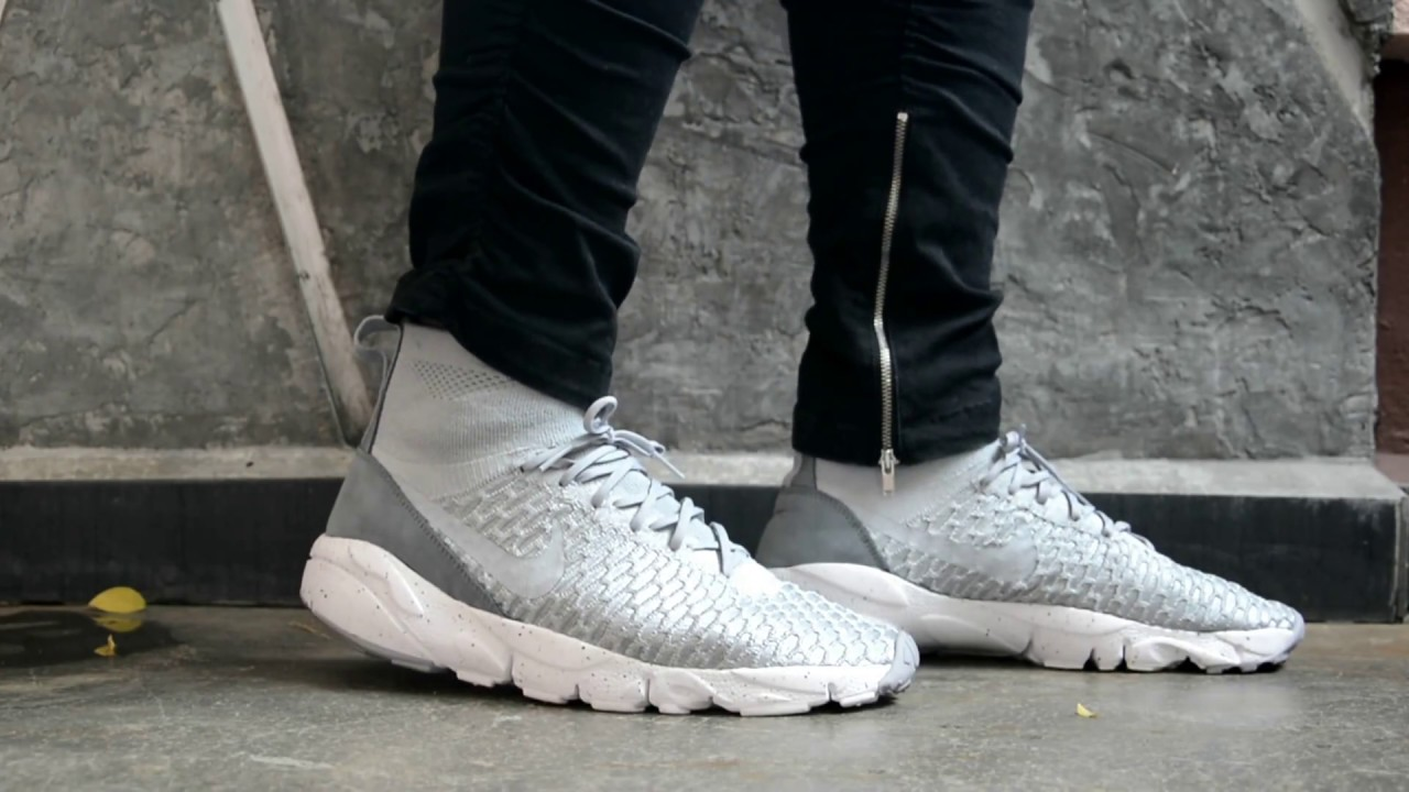 278ef6ba2828c Nike Air Footscape Magista Flyknit Wolf Grey Closer Look   On Feet ...
