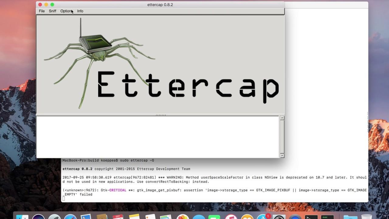 Build Ettercap from GitHub MacOSX