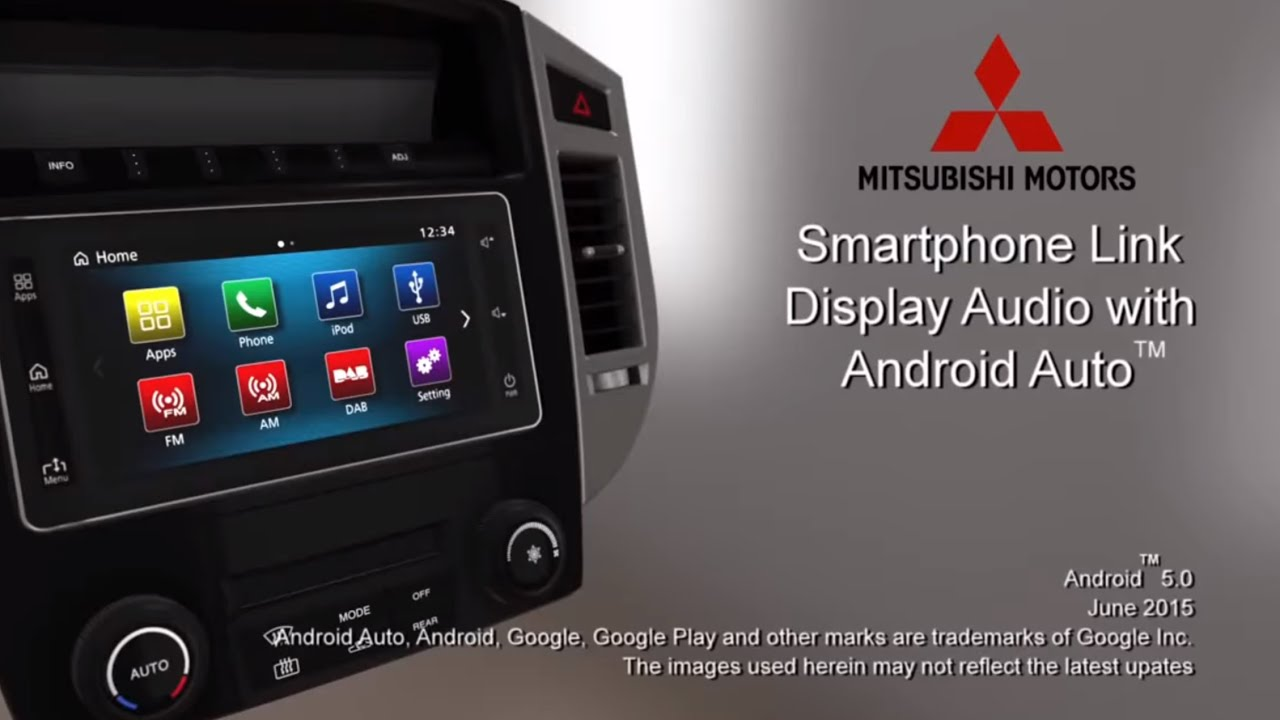mitsubishi smartphone link display audio android auto hands on youtube. Black Bedroom Furniture Sets. Home Design Ideas