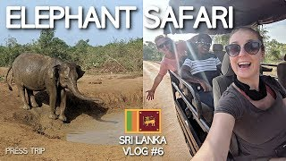 WILD ELEPHANT SAFARI in UDAWALAWE NATIONAL PARK! | Sri Lanka Travel Vlog #6