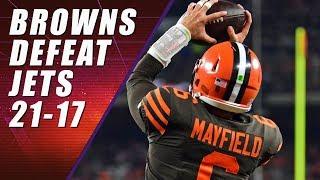 Cleveland Browns WIN! BROWNS WIN! BROWNS WIN! Defeat Jets