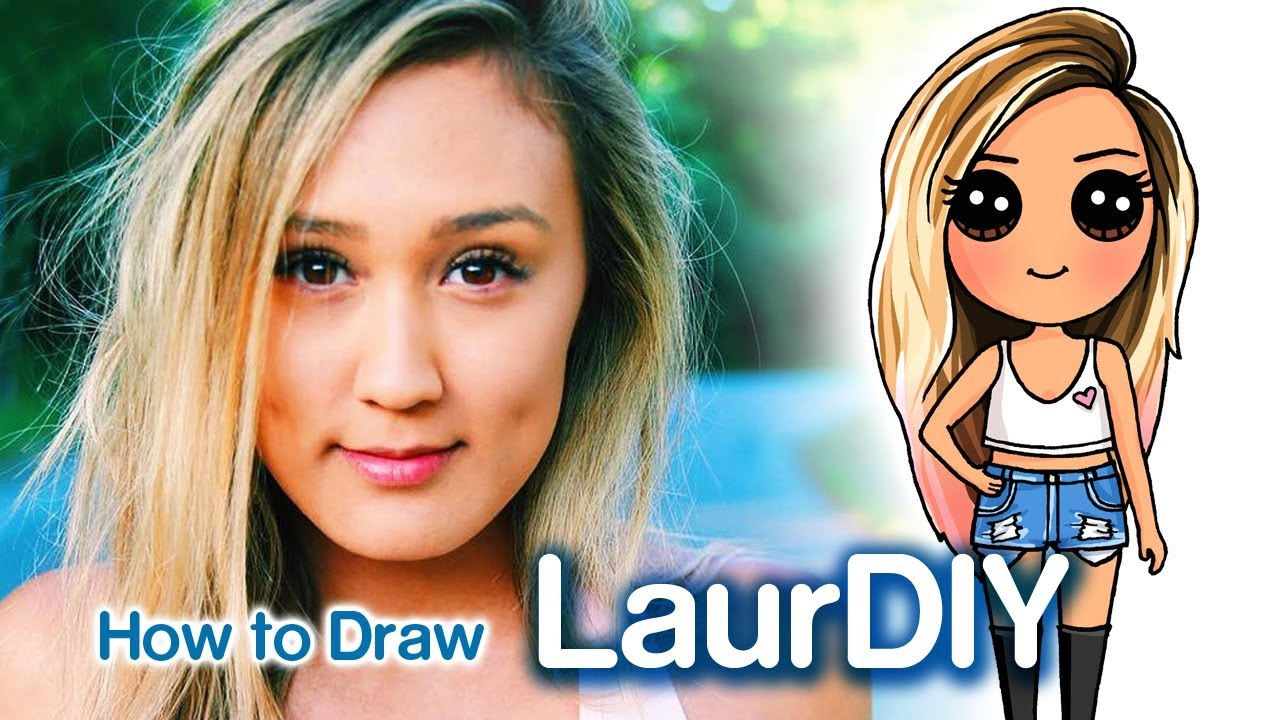 How To Draw Laurdiy Chibi Famous Youtuber Youtube