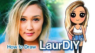 How to Draw LaurDIY chibi | Famous Youtuber