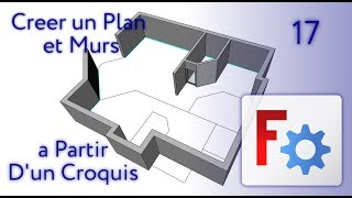 FreeCAD Arch - Creer un Plan a Partir D'un Croquis - 17