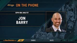 ESPN's Jon Barry Talks Warriors-Blazers, Zion & More w/Dan Patrick | Full Interview | 5/17/19