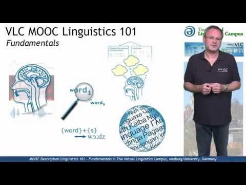 pMOOC Description: Linguistics 101 - Fundamentals