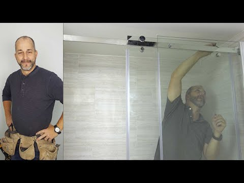 How To Install A Modern Glass Shower Door Kit