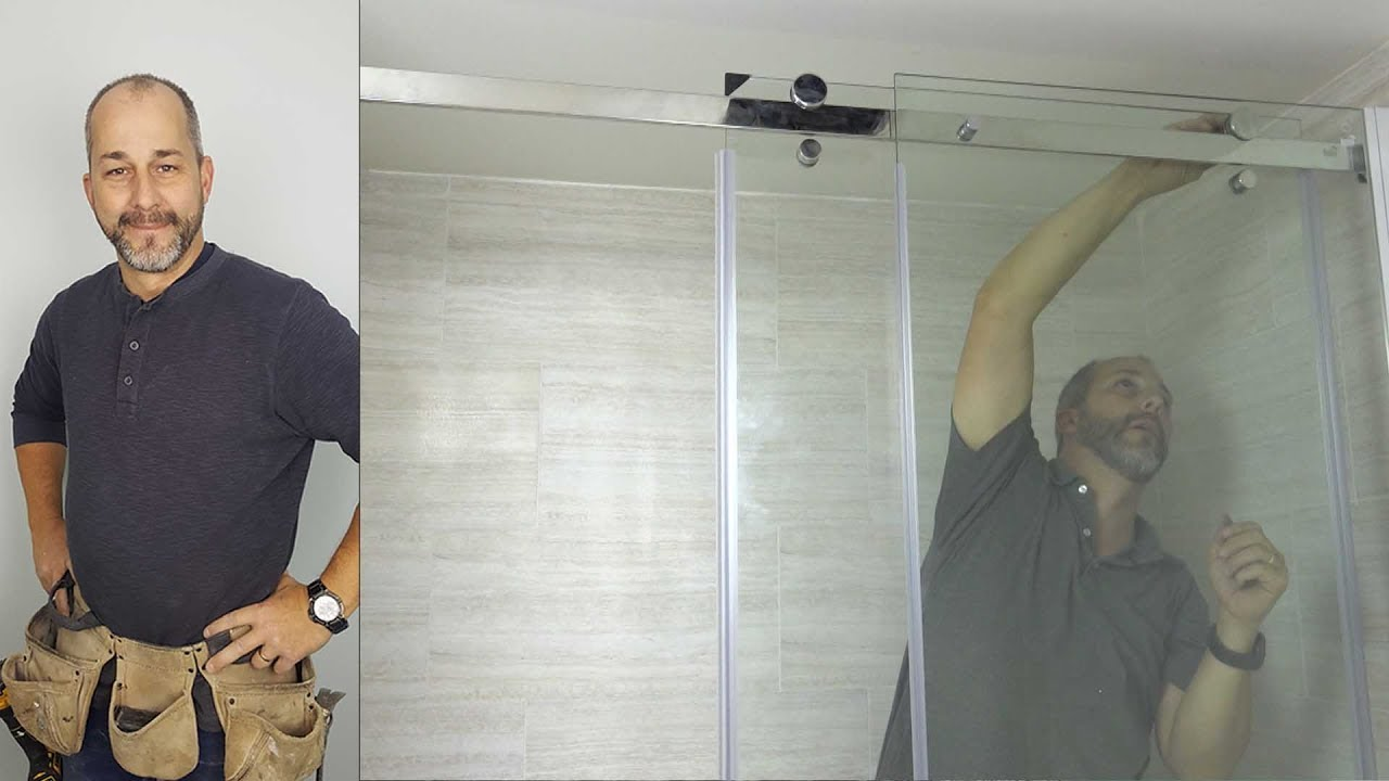 How To Install A Modern Glass Shower Door Kit - YouTube