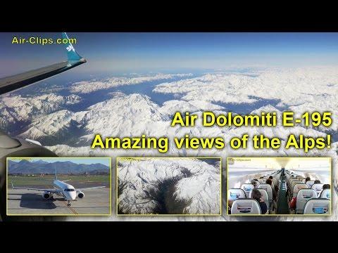 Air Dolomiti Embraer 195 TOP ALPINE VIEWS Bergamo-Munich! MUST SEE!!! [AirClips full flight series]