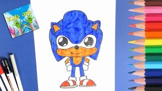 Download How To Draw And Color Cute Sonic Easy Kids Art MP3, MKV
