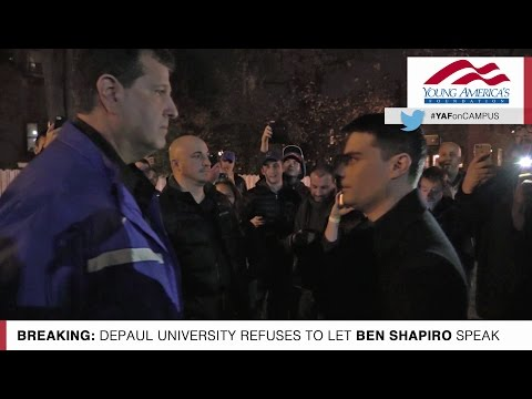 Exclusive Video: Ben Shapiro Barred From Entering DePaul University!