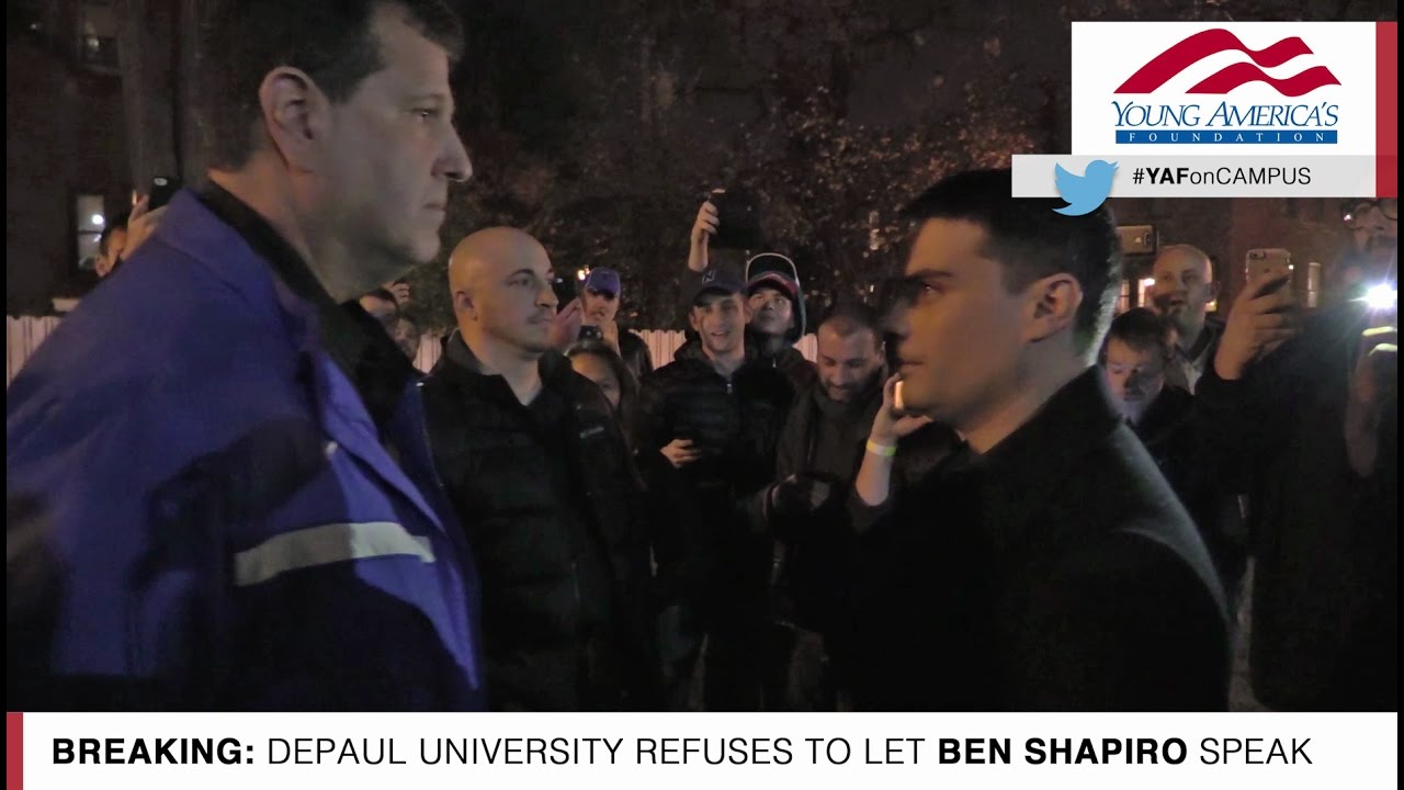Exclusive Video: Ben Shapiro Barred From Entering DePaul