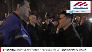 Exclusive Video: Ben Shapiro Barred From Entering DePaul University! thumbnail