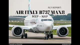 TRIP REPORT: AIR ITALY B737-MAX8, MILAN MALPENSA TO NAPOLI CAPODICHINO AIRPORT