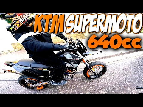 FIRST MOTORCYCLE!! SUPERMOTO KTM LC4 640 PRESTIGE 2005