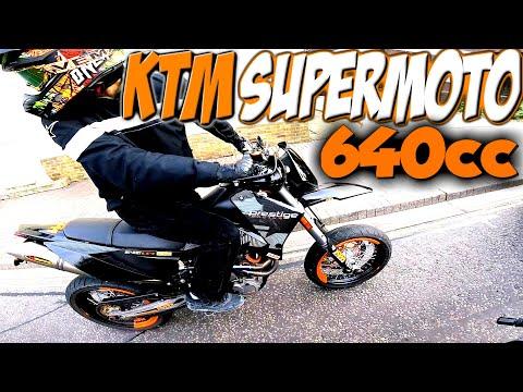 FIRST MOTORCYCLE!! SUPERMOTO KTM LC4 640 PRESTIGE 2005