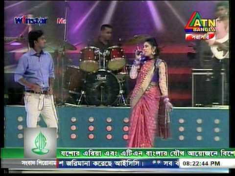 ATN bangla program adho alo chayate by oishi