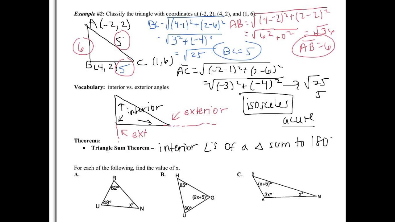 4 1 apply triangle sum properties youtube for Exterior angle property of a triangle proof