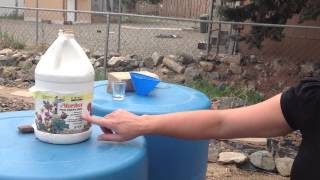 Fertilizing With Fish Emulsion - Gravity Feed Watering System