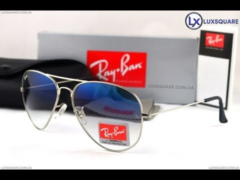 ray ban rb3026 blue gold aviator/pilot sunglasses
