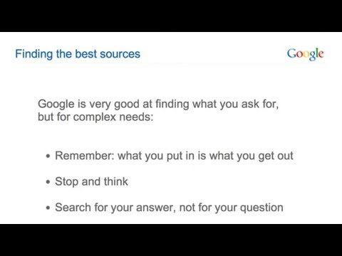Even better search results: Getting to know Google search for education