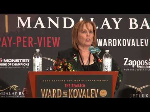 Kathy Duva loses her mind at press conference following Andre Ward knocking out Sergey Kovalev