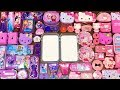PURPLE Vs PINK ! HELLO KITTY And ELSA FROZEN | Special Series #74 Mixing Random Things Into Slime