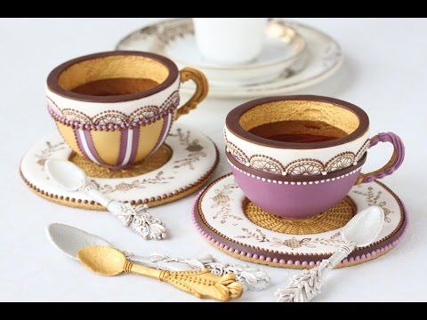 How To Make 3 D Cookie Teacups Youtube