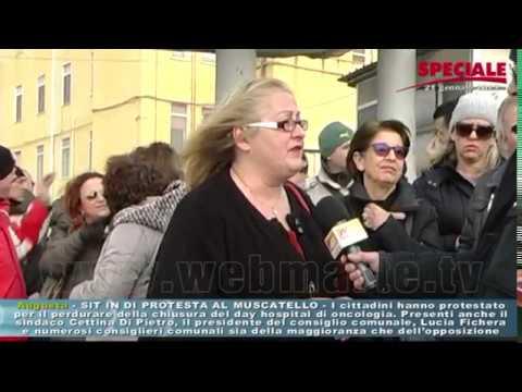 Augusta - Sit In di protesta al Muscatello
