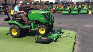 John Deere 1025R VIDEO (uninstall and install deck and loader)
