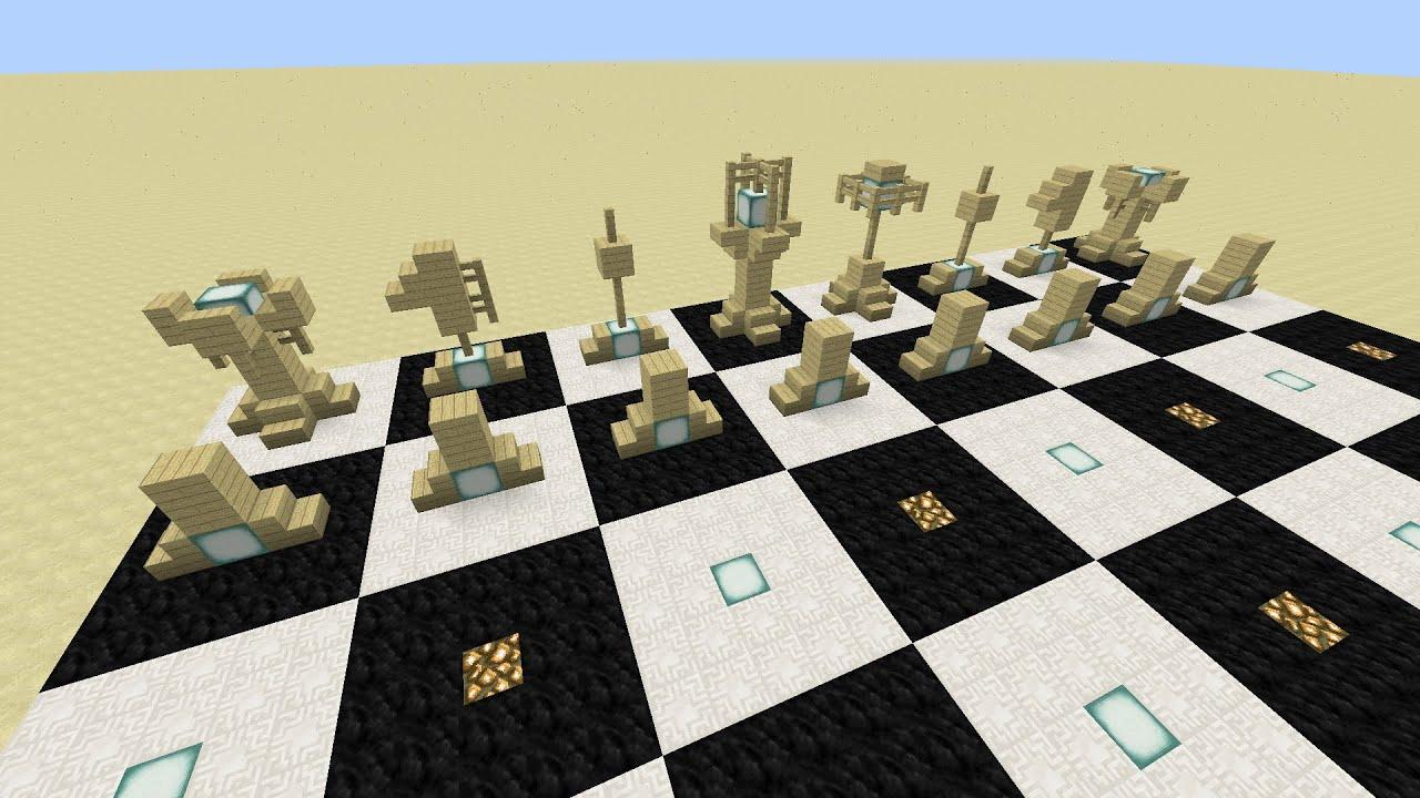 Minecraft :: Chess Set Design And Tutorial