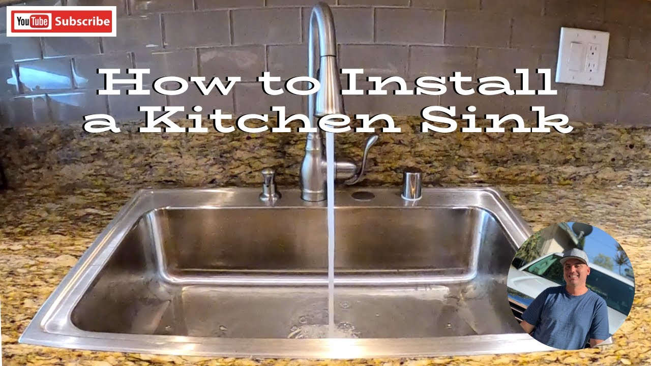 how to install a kitchen sink youtube